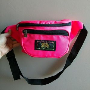 Vintage 1990s Neon Pink Fannypack
